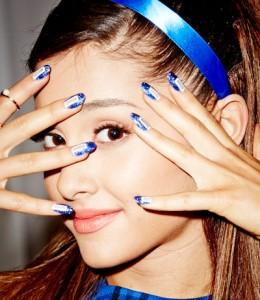 Ariana Grande Nails - Blue