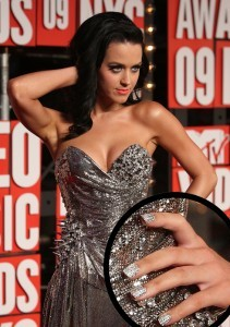 Katy Perry Nails - Bling