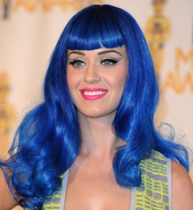 Katy Perry Hairstyles - Blue Wig