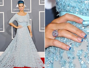 Katy Perry Nails - Colored Tips