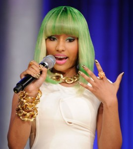 Nicki Minaj Nails - Gold