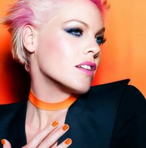 Pink Nails - Orange