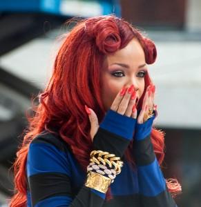 Rihanna Nails - Red