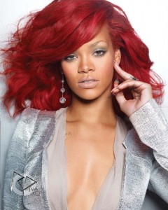 Rihanna Hairstyles - Red