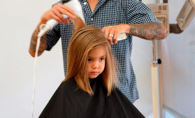 Surviving Your Childs First Haircut Salon Price Lady